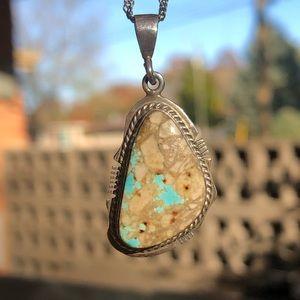 Vintage Kathy Yazzie Boulder Turquoise Necklace